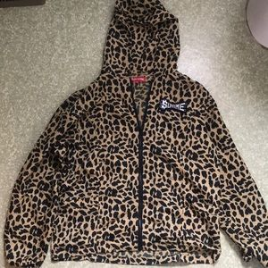 Supreme cheetah print windbreaker